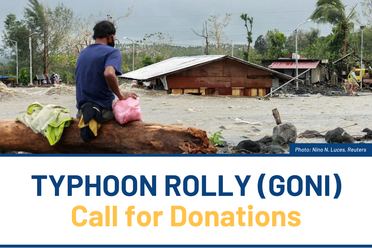 CALL FOR DONATIONS: Help Families Affected by Typhoon Rolly (Goni)